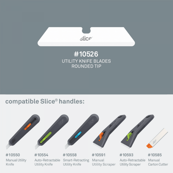 Ceramic Utility Knife Blades (Rounded Tip)